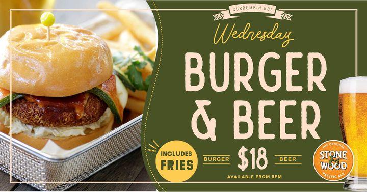 Wednesday Burger & Beer Night At Currumbin RSL